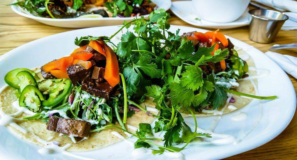 Vegetarian tacos in Boise