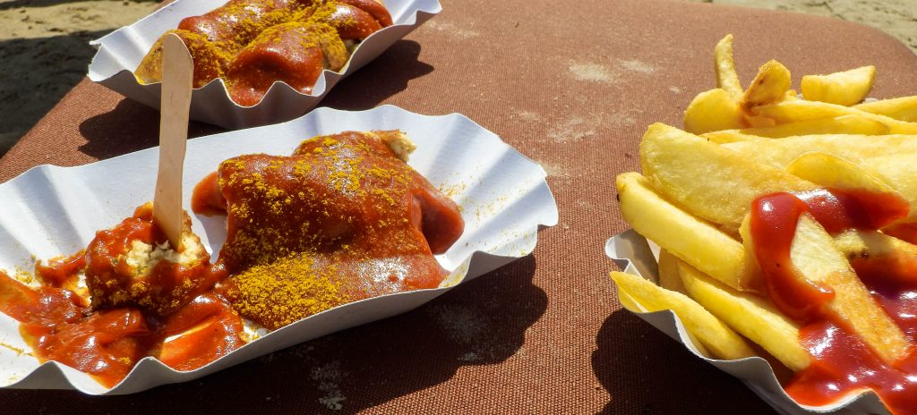 Vegetarian Currywurst