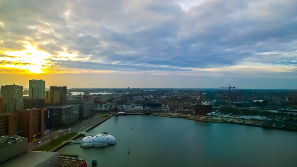 View from nhow Rotterdam design hotel